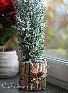 Recycling Craft for Christmas - Can Flower Pot