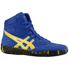 Men's ASICS Dan Gable Ultimate 2 Wrestling Shoe - Blue/Black 9.5 ...