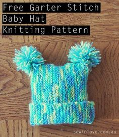 Here is a super quick baby hat knitting pattern I found on a Japanese craft website, Atelier. It's extremely easy because you only need to know how to garter stitch.…