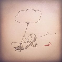 Je vous rends aux nuages! #Anart #Byzance #Enfance #Draw #Inktober #Happy #Memory #Swing