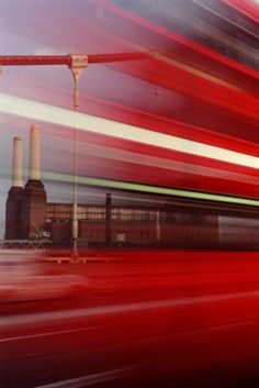 Battersea Power Station & a London red Bus.