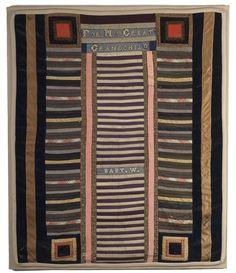 late nineteenth century crib quilt, so wonderful....