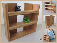 Lovely Wooden Wood Shoe Accessories Display Organizer Rack Shelf for Barbie Doll | eBay