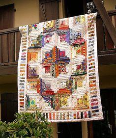 Log Cabin using African fabrics. Love it!