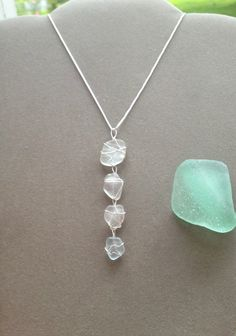 Sea Glass diy jewelry inspiration, The climate is getting hotter and there is no better method to amp up your drained, winter closet than by including new, Sea Glass Necklace, Glass Earrings, Sea Glass Jewelry, Seashell Jewelry, Ocean Jewelry, Seashell Crafts, Quartz Necklace, Silver Earrings, Pendant Necklace