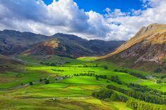 Kunstwerk: 'Uitzicht vanaf Side Pike in de Lake District' van Ron Buist Lake District, Side, Golf Courses, Van, Poster, Mountains, Nature, Prints, Canvas