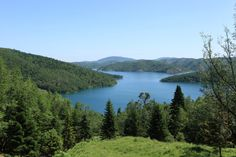 Plastiras Lake: an ideal destination for each season . by Peter Markovic on Forests, Fairies, Serenity, Shelter, Cool Pictures, Greece, Sleeping Beauty, Mountain, River