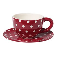 And then you'd need one of these of course...(Red Retrospot Teacup And Saucer)