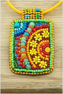 Precioso piedra - Beaded Joyería por Nata Karsky: Colección del Día de Verano