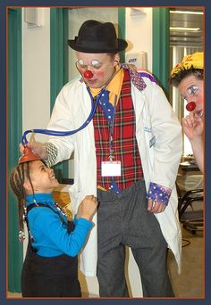 This is Clown Care, care of Big Apple Circus.  Would that I were likewise put at ease.