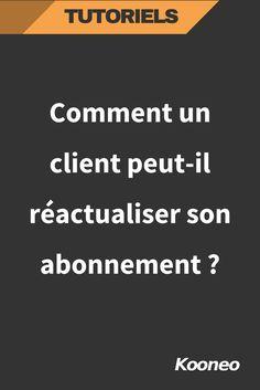 [TUTORIEL] Comment un client peut-il réactualiser son abonnement sur kooneo ? #Infopreneur #Ecommerce #Kooneo #Tutoriel #Abonnement http://help.kooneo.com/article/294-comment-client-reactualiser-abonnement-kooneo?auth=true