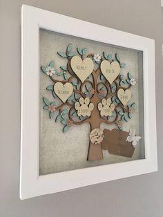 Ideas For Wooden Family Tree Frame Heart Family Tree Wall Decor, Family Tree Frame, Tree Wall Art, Family Trees, Family Picture Frames, Picture Wall, Family Tree Designs, Personalised Family Tree, Pine Tree Tattoo