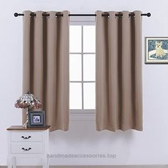 Nicetown Blackout Curtains & Drapes – (khaki Color) Noise reduction Draperies for Living Room ,52 inch wide by 63 inch long ,Singal Pack  Check It Out Now     $51.15      NICETOWN BLACKOUT CURTAINS  are so much more than just bits and pieces of fabric that are sewn together to prevent ..  http://www.handmadeaccessories.top/2017/03/16/nicetown-blackout-curtains-drapes-khaki-color-noise-reduction-draperies-for-living-room-52-inch-wide-by-63-inch-long-singal-pack/