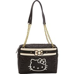 Hello Kitty Black/Cream Quilted Bag With Gold Metal Bow Hello Kitty http://www.amazon.co.jp/dp/B00S7EV9WO/ref=cm_sw_r_pi_dp_4Z62wb128Z7WV