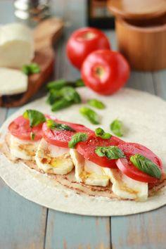 Chicken Caprese Wraps - tortillas, 4-6 T Mayo, thinly sliced chicken, 12-16 oz mozzarella, fresh basil, salt & Pepper, balsamic vinegar, olive oil