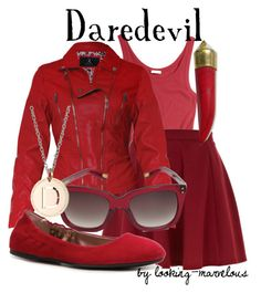 daredevil by marvel-ous on Polyvore featuring polyvore, fashion, style, Skin, Rare London, River Island, BCBGMAXAZRIA, Rebecca, Marc Jacobs and clothing