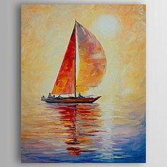 Canvas Painting Sail Boat Painting Kitchen Art Decor Abstract Art Canvas Wall Art Art on Canvas Sailboat Art, Sailboat Painting, Sailboats, Large Painting, Hand Painting Art, Painting Canvas, Abstract Wall Art, Canvas Wall Art, Pinterest Pinturas