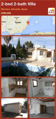 2-bed 2-bath Villa in Moraira, Alicante, Spain ►€269,000 #PropertyForSaleInSpain