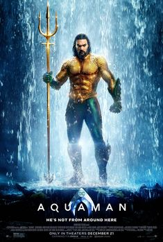 Aquaman on DVD March 2019 starring Jason Momoa, Amber Heard, Willem Dafoe, Patrick Wilson. Aquaman is the king of Atlantis, born half-human as Arthur Curry and half-Atlantean. The film will focus on a surface world constantly ra Aquaman Film, New Aquaman, Aquaman 2018, James Wan Aquaman, Aquaman Comics, 2018 Movies, Dc Movies, Hindi Movies, Movie Posters