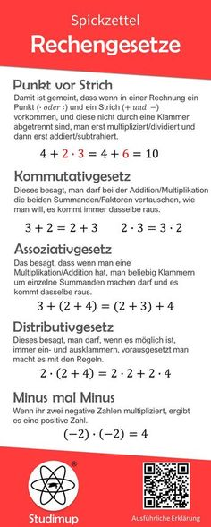 Math laws cheat sheet- Mathe Rechengesetze Spickzettel Math cheat sheet to the .Math laws cheat sheet- Mathe Rechengesetze Spickzettel Math cheat sheet to the laws of calculation with … - Math Cheat Sheet, Cheat Sheets, Elementary Science, Elementary Education, Learn Math Online, Math Sheets, Fun Math Games, School Motivation, School Hacks