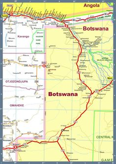 Map of Namibia Africa Road Map D Version 2010 Road Maps, Visit South Africa, 4x4, Wanderlust, Earth, Mother Goddess, World, The World