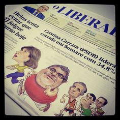 Capa do LIBERAL desta quarta-feira. Eleições em destaque no traço do cartunista Carlos Reis. #capa #primeirapágina #eleições2012 #libeconectados #jornal #americanasp #jornalismo #frontpage #journal #jornalismo #journalism #cartum