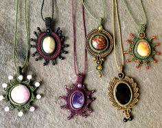 Rumi Sumaq macrame pendant necklaces
