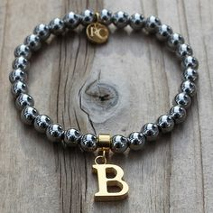 B Initial Little Girls (All initials available) – Rustic Cuff
