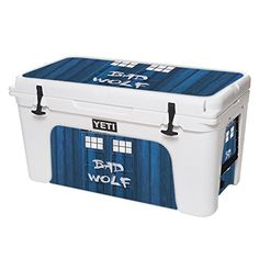 MightySkins Protective Vinyl Skin Decal for YETI Tundra 75 qt Cooler wrap cover sticker skins Time Lord Box >>> Continue to the product at the image link.