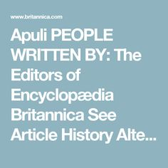 Apuli PEOPLE WRITTEN BY: The Editors of Encyclopædia Britannica See Article History Alternative Title: Apulian RELATED TOPICS Dobuni Germanic peoples ancient Greek civilization Roma history ancient Italic people Norman Rechabite ancient Rome Rusyn Apuli, also called Apulians, ancient Italic tribe, one of the populations that inhabited the southeastern extremity of the Italian peninsula. The ancients often called this group of tribes Iapyges (whence the geographic term Iapygia, in which…