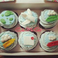 Travel the world cupcakes