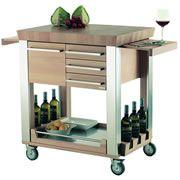 Legnoart Astoria Kitchen Cart in Warm Wood