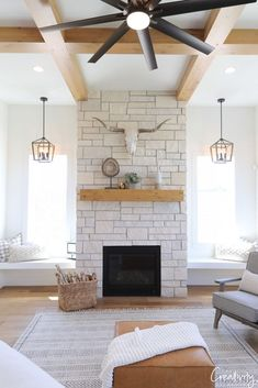 Extraordinary Ideas of Living Room with Fireplace 10 Extraordinary Ideas of Living Room with Fireplace . 10 Extraordinary Ideas of Living Room with Fireplace . Farmhouse Fireplace, Home Fireplace, Fireplace Remodel, Living Room With Fireplace, Fireplace Design, Fireplace Ideas, Fireplaces, Farmhouse Decor, Limestone Fireplace