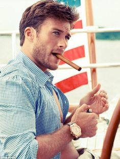 Scott Eastwood (son of Clint Eastwood) is a rising Hollywood star, with roles in the upcoming films The Perfect Wave, Dawn Patrol and Fury - which will see him acting alongside Brad Pitt and Shia LaBeouf. He is the spitting image of his father!