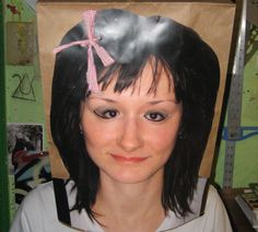 Wearing a paper bag over your head? Spice it up!! paper bag mask diy insrtuctable