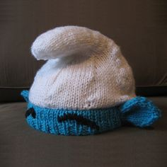 Smurf hat pattern on ravelry. So cool!