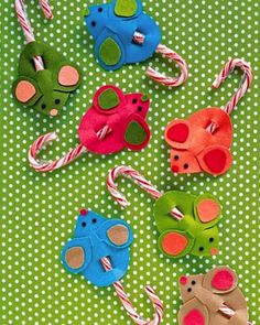 cute class gifts  **This pinner uses Christmas colors and glitter and they always look so cute