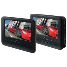 GPX Dual Screen Portable DVD Player System- Black - Mills Fleet Farm