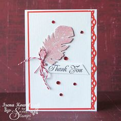 SweetStamps challenge 2/4/14 Pink, Red and White; DT Irena