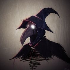 I wanted to draw a plague doctor so thats exactly what I did.