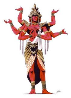 Asura is a member of a group of power-seeking deities from Hindu/Buddhist Mythology, who were sometimes considered sinful and materialistic, but most often considered to have become addicted to passions, especially wrath, pride, boasting, and bellicosity.
