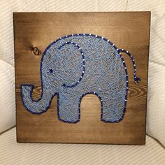 Elephant String Art- Order from KiwiStrings on Etsy- www.Kiwistrings.etsy.com