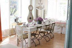 Shabby Chic Dining Table Perth Dining Room Farmhouse with bistro ...