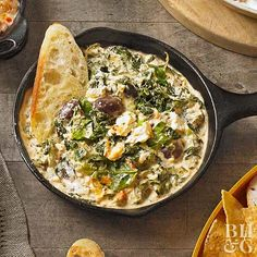 The combo of yogurt, mayo, and cream cheese makes this hot dip the ultimate in creaminess! Dare you not to dunk.