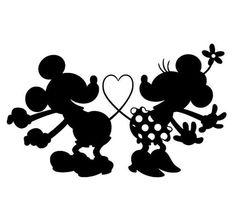 Maus Silhouette Mickey und Minnie - Plotten - New Ideas
