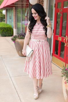 da2241790f5f Fourth of July Party Dresses + Sales Roundup! Striped Midi Dress