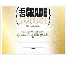 Perfect attendance award certificates school attendance for 6th grade graduation certificate template