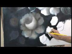 Como Pintar Rosas Monocromáticas 3ª Parte - Escudeiro - YouTube
