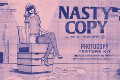 NASTY COPY Photocopy Texture Kit by True Grit Texture Supply on @creativemarket