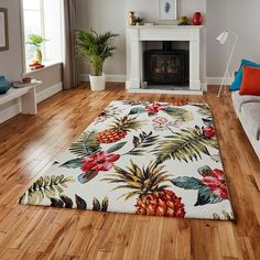 Think Rugs Havana 21794 Multi Pineapple Rug